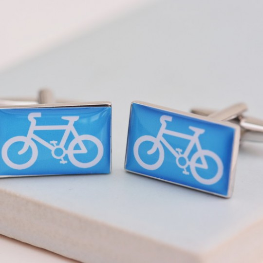 Cyclist Sign Cufflinks