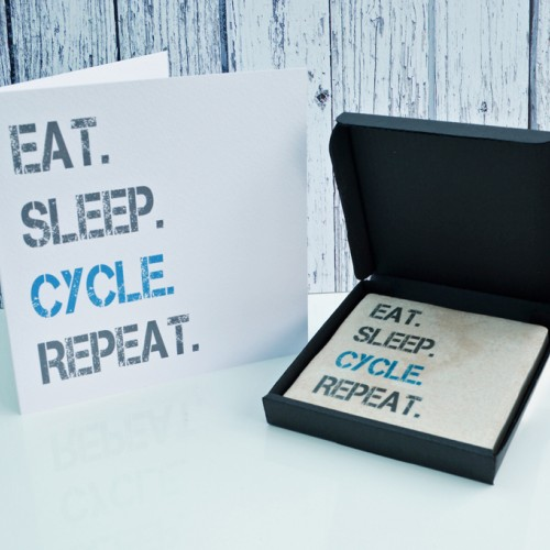 Gift Set Cycle Card and Coaster