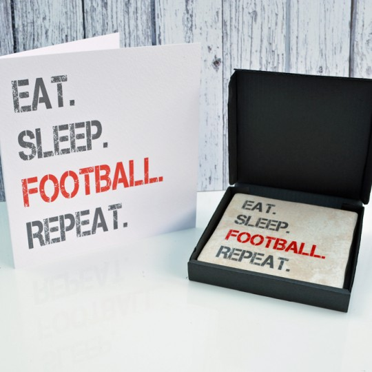 Gift Set Football Card and Coaster