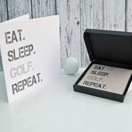 Gift Set Golf Card and Coaster