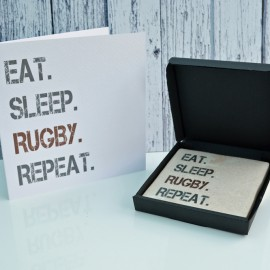 Gift Set Rugby Card and Coaster