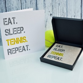 Gift Set Tennis Card and Coaster