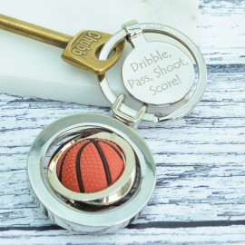 Personalised Basketball Spinning Keyring