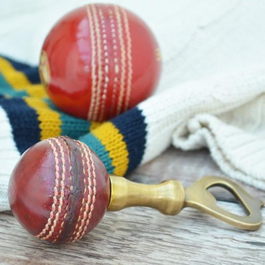 Vintage Replica Cricket Ball Bottle Opener
