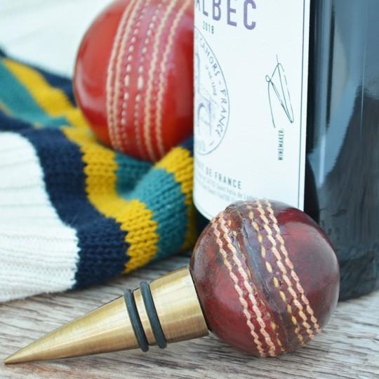 Vintage Replica Cricket Ball Bottle Stopper
