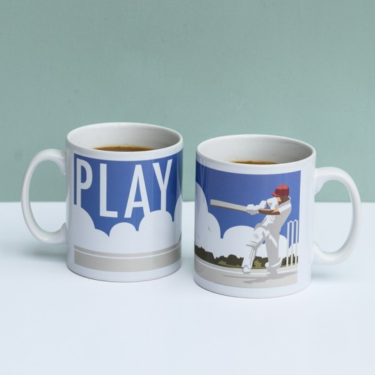 'Play' Cricket Mug