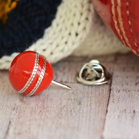 Cricket Lapel Pin Badge