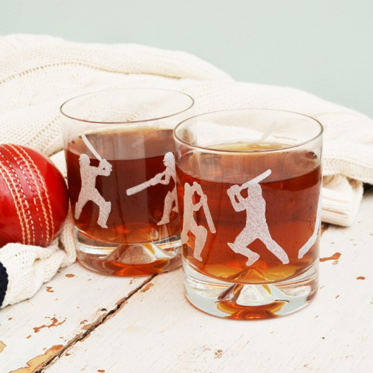 Etched Glass Cricket Tumbler