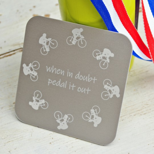 Personalised Cyclist Coaster