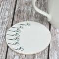 Racing Cyclist Ceramic Coaster