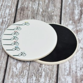 Racing Cyclist Ceramic Coaster
