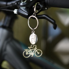 Personalised Cycling Keyring