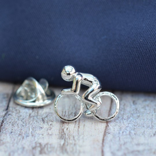 Cyclist Lapel Pin Badge