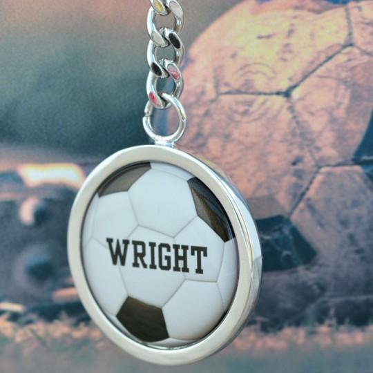 Personalised  Name  Football keyring