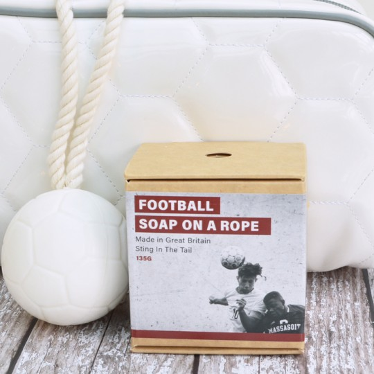 Football Soap on a Rope