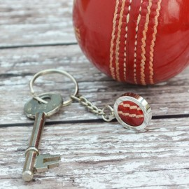 Genuine Cricket Ball Keyring