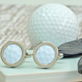 Genuine Golf Ball Cufflinks