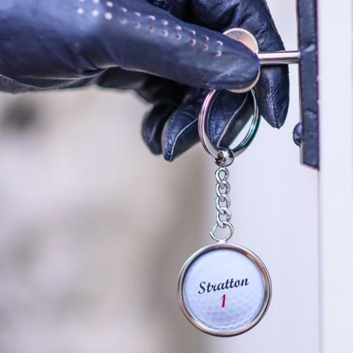 Personalised Golf Ball Keyring