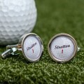 Personalised Golf Ball Cufflinks