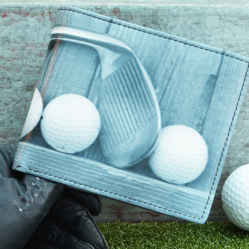 Golf leather wallet