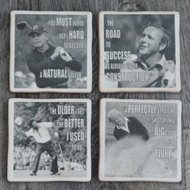 Famous Golfers set of 4 Coasters