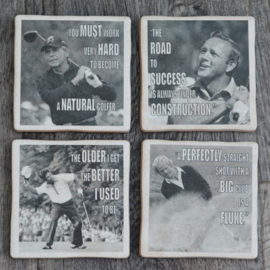 Famous Golfers set of 4 Coasters