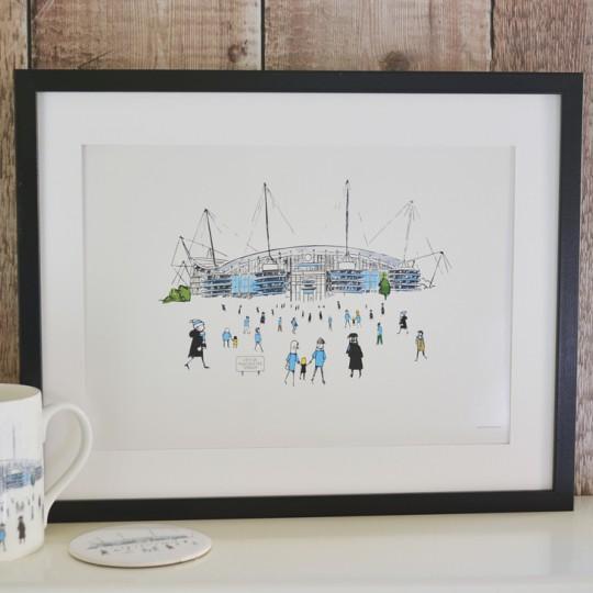 Football Stadium Unframed Print - Six Teams