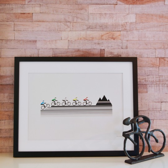 Mountain Bikers Unframed Print