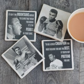 Set of Four Muhammad Ali Coasters