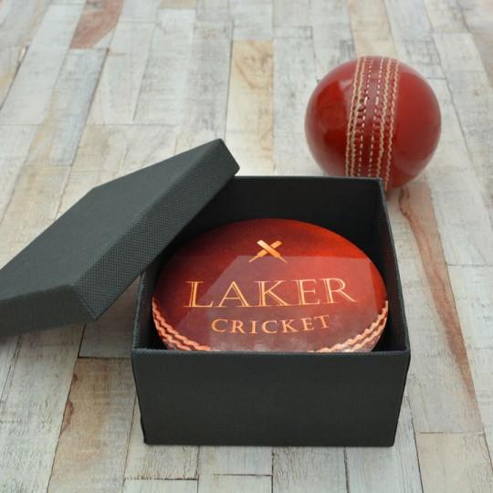 Personalised Cricket Ball Coaster