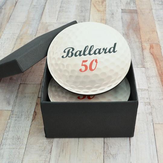 Personalised Golf Ball Coaster