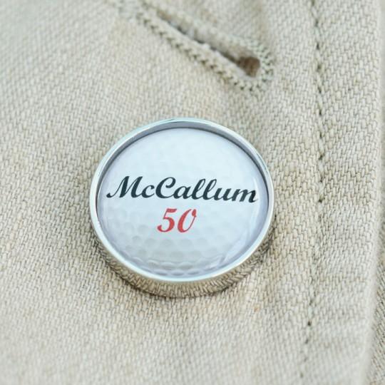 Personalised Golf Ball Lapel Pin Badge