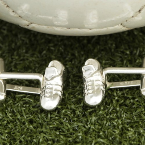 Solid Silver Football Boot Cufflinks