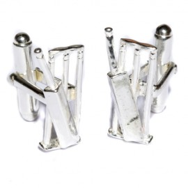 Solid Silver Cricket Cufflinks