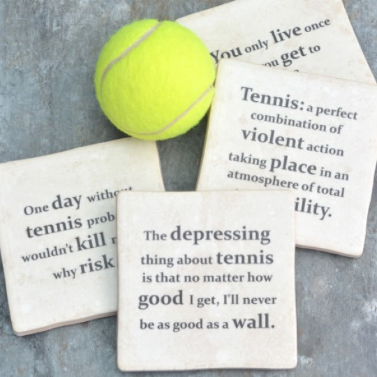 Famous Tennis Quotes set of Coasters