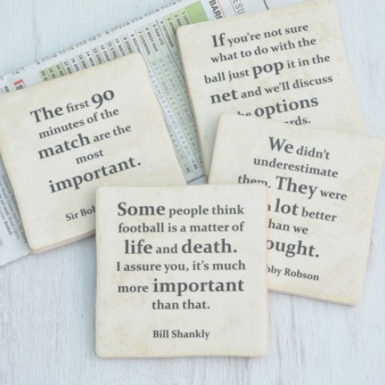 Football Quotes Coasters