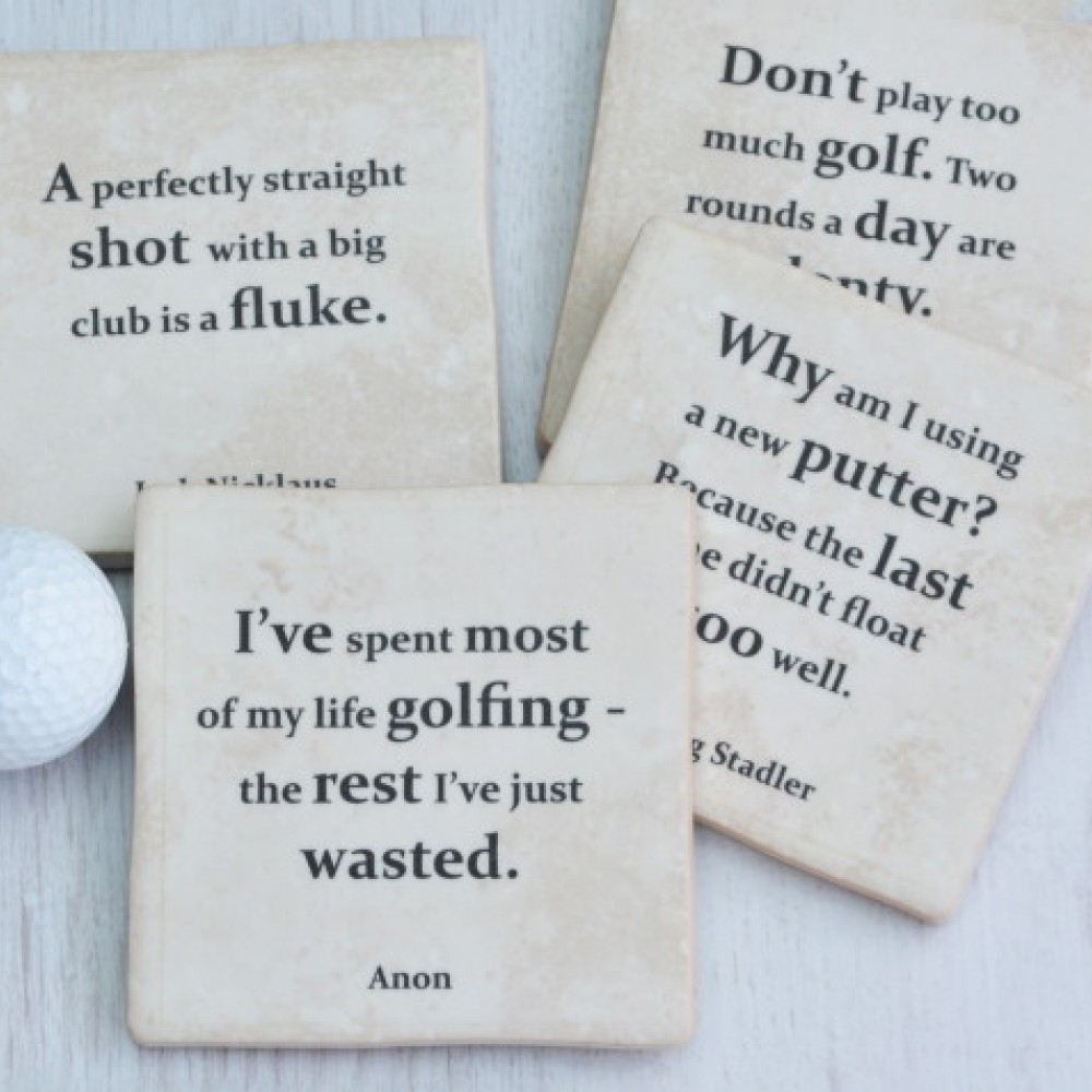 Golf Quotes About Life Golf Quotes Coasters