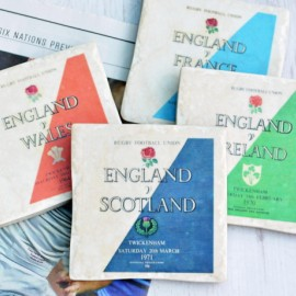 Set of 4 Six Nations Rugby Coasters