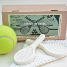 Set of 2 Tennis Racquet Soaps