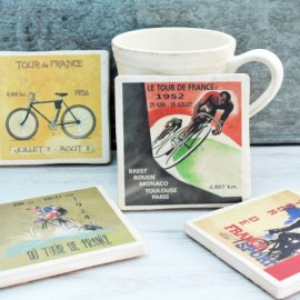Set of Four Ceramic Tour de France Coasters