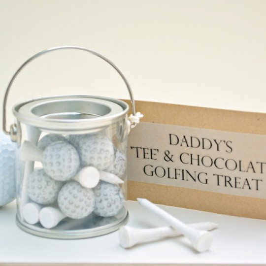 Mini Bucket of Chocolate Golf Balls and Tees