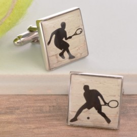 Enamelled Tennis Cufflinks