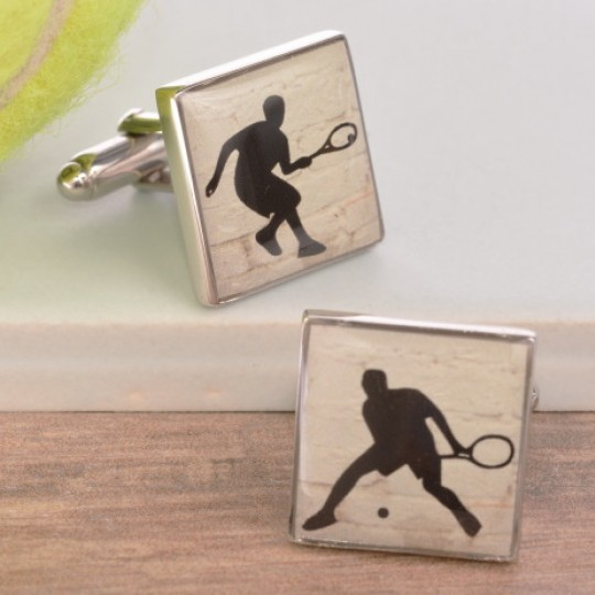 Enamelled Tennis Cufflinks