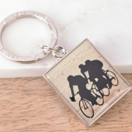 Enamel Cycling keyring