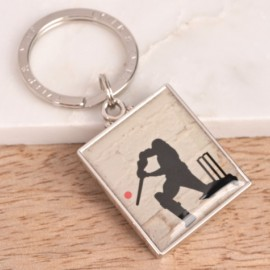 Enamel Cricket Keyring