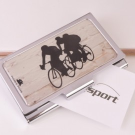 Enamel Cycling Business Card Case