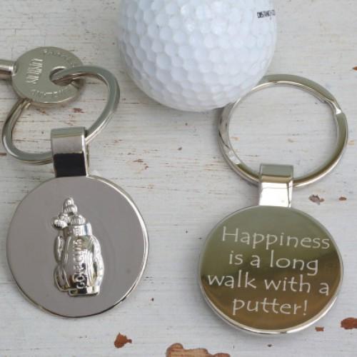Personalised Golf Bag Keyring