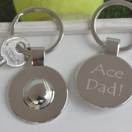 Personalised Tennis Ball Keyring