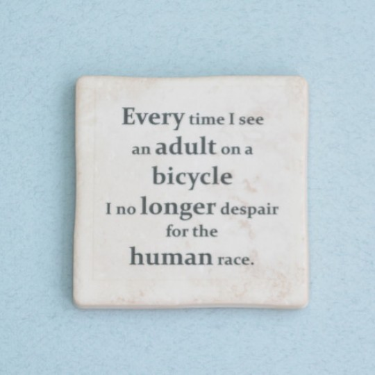 Cycling Quotes set of Coasters