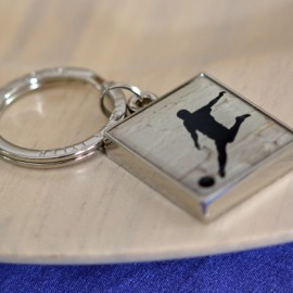 Enamelled Football Keyring